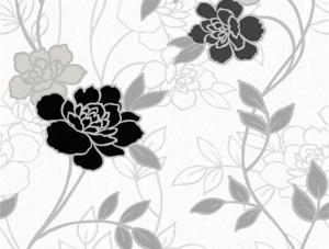 Dekor Harmony Çiçekli Gri 150-D Duvar Kağıdı