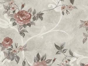 Dekor Harmony Çiçekli Kırmızı 146-A Duvar Kağıdı