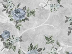 Dekor Harmony Çiçekli Mavi 146-B Duvar Kağıdı